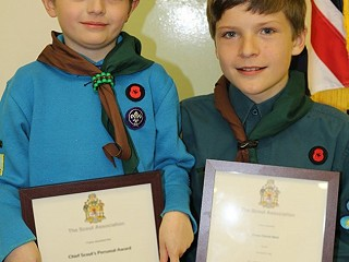 Acts of bravery wins top awards for two young scouts
